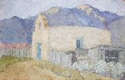 Cordelia Creigh Wilson Adobe Church oil on canvas