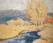 Cordelia Creigh Wilson Autumn in the Sangre de Cristos oil on canvas