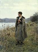 Daniel Ridgway Knight The Shepherdess of Rolleboise oil
