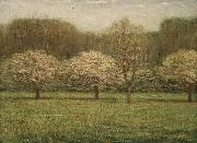 Dwight William Tryon Apple Blossoms oil painting reproduction