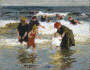 Edward Henry Potthast Prints Bathers oil painting reproduction