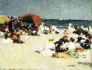Edward Henry Potthast Prints On the Beach painting