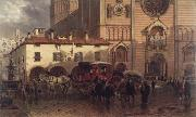 Edward lamson Henry The Cathedral of Piacenza oil painting reproduction