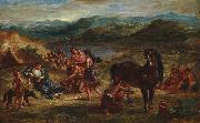 Eugene Delacroix Ovid among the Scythians painting