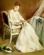 Eva Gonzales Woman in White oil painting reproduction