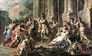 Francesco de mura Horatius Slaying His Sister after the Defeat of the Curiatii painting
