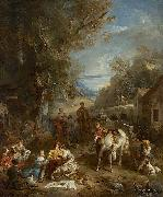 Francois Lemoyne hunt lunch painting