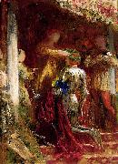 Frank Bernard Dicksee Victory, A Knight Being Crowned With A Laurel-Wreath oil painting artist