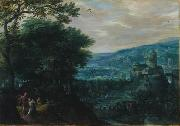 Gillis van Coninxloo Landscape with Venus and Adonis oil on canvas