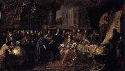 Henri Testelin Colbert Presenting the Members of the Royal Academy of Sciences to Louis XIV in 1667 oil painting reproduction