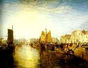 J.M.W.Turner harbour of dieppe painting