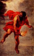 Jan Cossiers Prometheus Carrying Fire oil on canvas