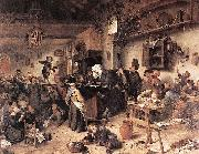Jan Steen Village School oil painting reproduction