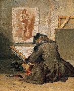 Jean Simeon Chardin Young Student Drawing oil on canvas