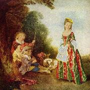 Jean antoine Watteau Der Tanz oil on canvas