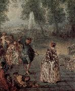 Jean antoine Watteau Das Ballvergnegen oil on canvas