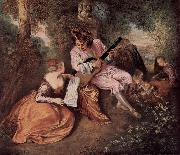 Jean antoine Watteau Das Liebeslied oil on canvas