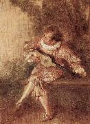 Jean-Antoine Watteau Die Serenate oil painting reproduction