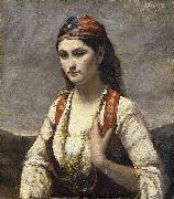 Jean-Baptiste Camille Corot The Young Woman of Albano (L'Albanaise) oil on canvas