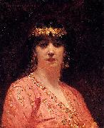 Jean-Joseph Benjamin-Constant Portrait of an Arab Woman oil on canvas