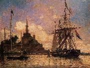 Johan Barthold Jongkind The Port of Rotterdam oil painting reproduction