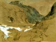 John Ruskin the pass of faido on the st gotthard oil