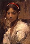 John Singer Sargent Head of a Capri Girl painting
