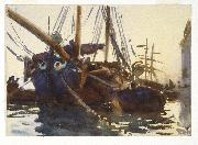 John Singer Sargent Venetian Boats oil painting reproduction