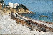 John Singer Sargent Beach Scene oil painting reproduction