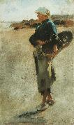 John Singer Sargent Breton Girl with a Basket oil painting reproduction