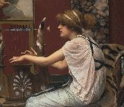 John William Godward Erato at Her Lyre painting