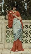 John William Godward He Loves Me, He Loves Me Not painting
