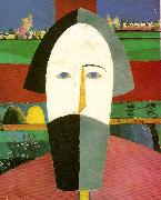 Kazimir Malevich head of a peasant painting