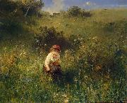 Ludwig Knaus Girl in a Field oil painting reproduction