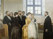 Michael Ancher A Baptism oil painting reproduction