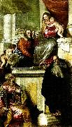 Paolo  Veronese holy family with john the baptist, ss. anthony abbot and catherine painting