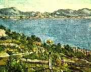 Paul Cezanne havet vid l'estaque painting
