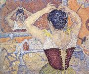 Paul Signac woman arranging her hair opus china oil painting reproduction