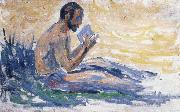 Paul Signac man reading china oil painting reproduction