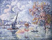 Paul Signac flood at the pont royal oil painting reproduction