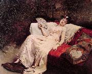 Raimundo Madrazo Reclining Lady oil