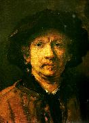 Rembrandt van rijn sjalvportratt oil painting reproduction