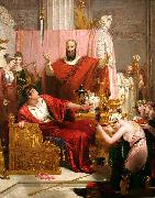 Richard Westall Sword of Damocles oil