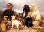 Richard ansdell,R.A. The Lucky Dogs oil