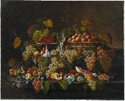 Severin Roesen Still Life with Fruit oil painting reproduction