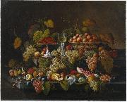 Severin Roesen Still Life with Fruit oil