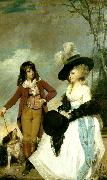 Sir Joshua Reynolds miss gideon and her brother, william oil painting reproduction