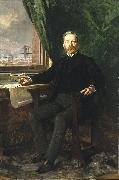 Theobald Chartran Portrait of Washington A. Roebling oil on canvas