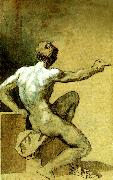 Theodore   Gericault academie d' homme oil painting reproduction