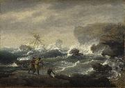 Thomas Birch Shipwreck oil painting reproduction